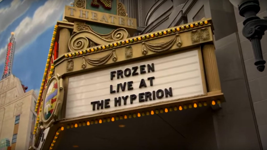 Close up of the Live at the Hyperion sign