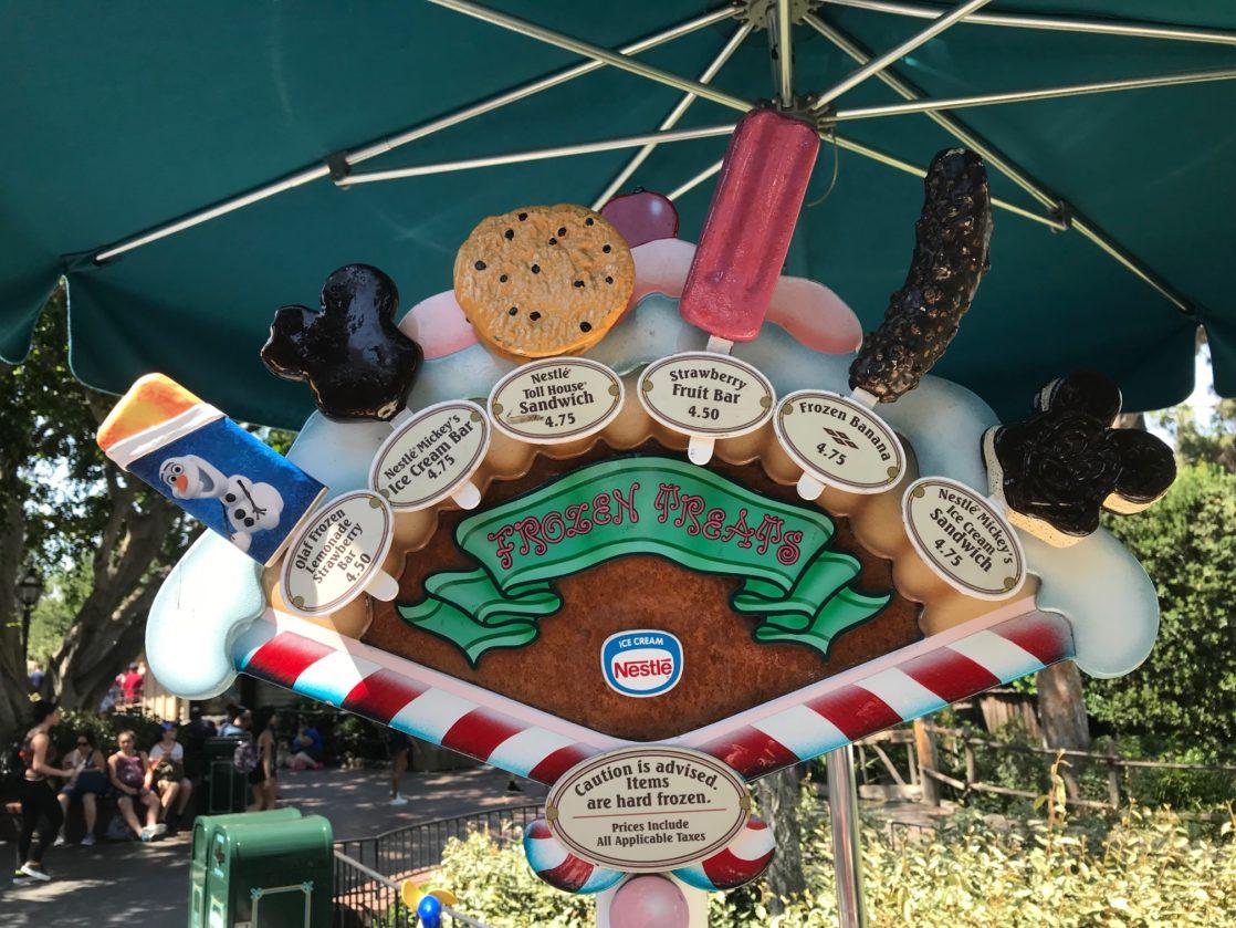 Icecream cart stand with Mickey frozen treats