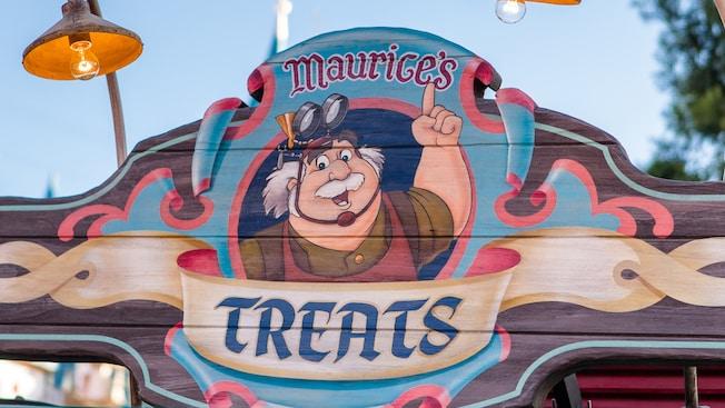 The door sign of Maurice's Treats