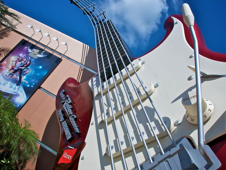 Close up of guitar in Hollywood Studios