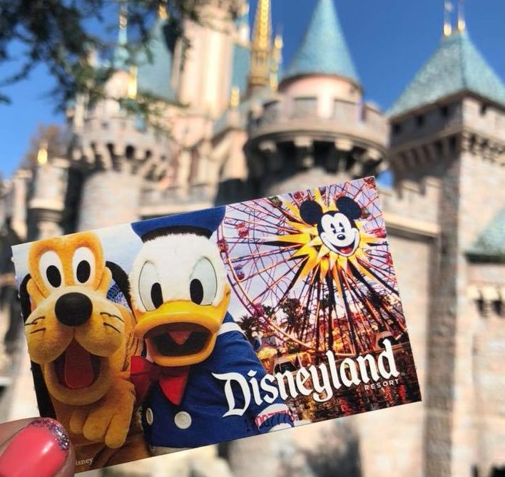 Disneyland budget: disneyand ticket in front of castle
