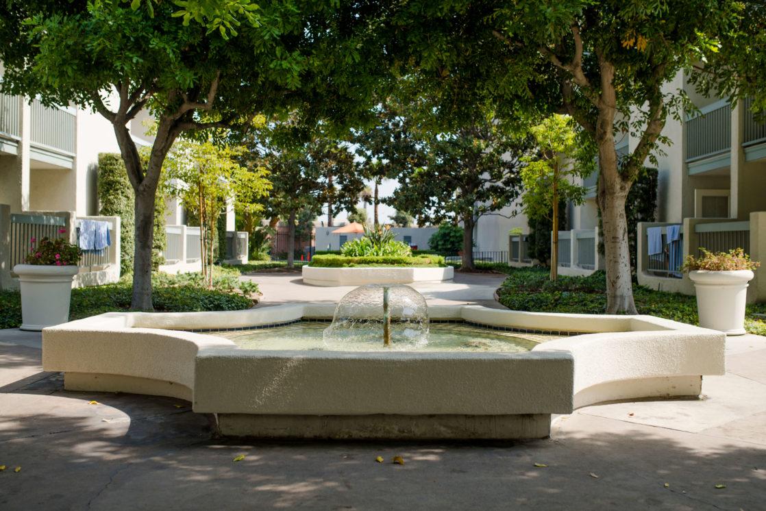 Fountain by lobby