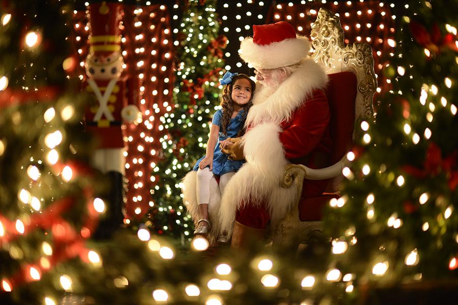 Little girl with Santa- Disney World in December