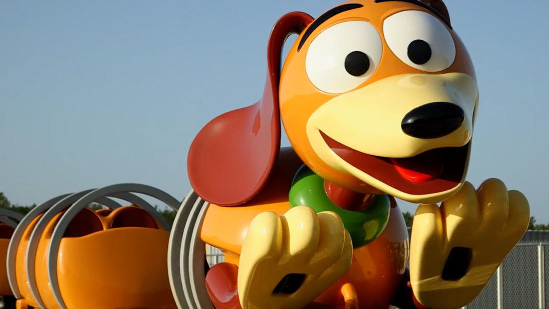 Slinky Dog Dash close up of dog's face