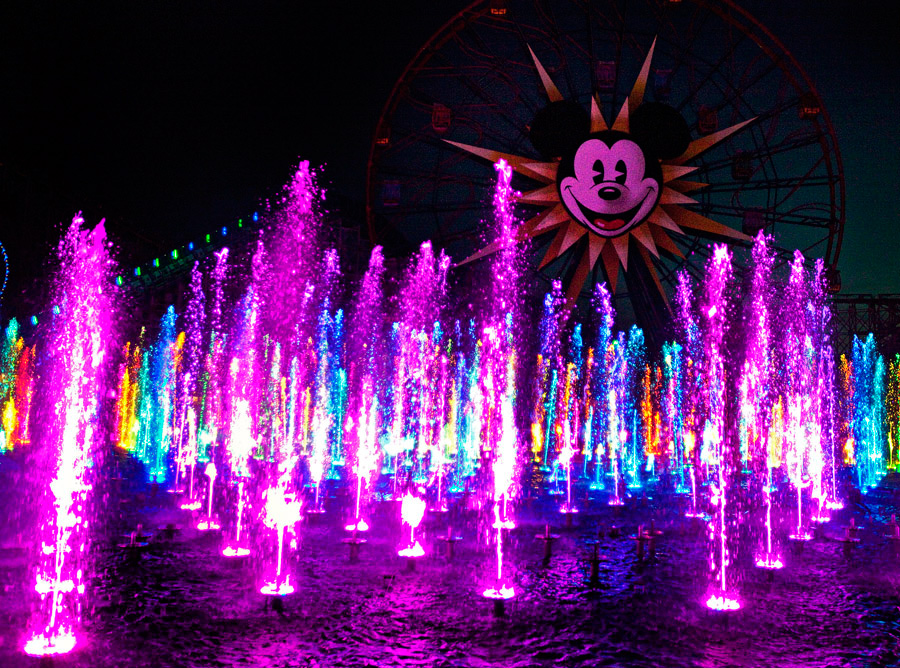 World of Color purple lights
