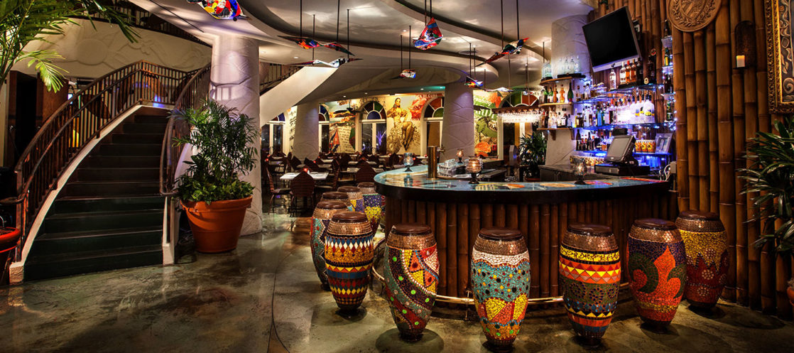 Bongos Cuban inside of restaurant