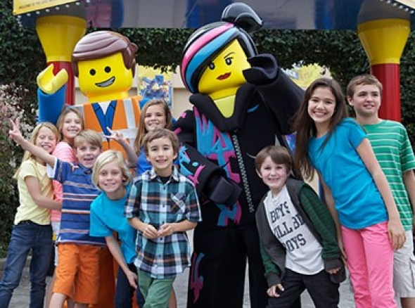 Lego Movie characters meet children at LEGOLAND