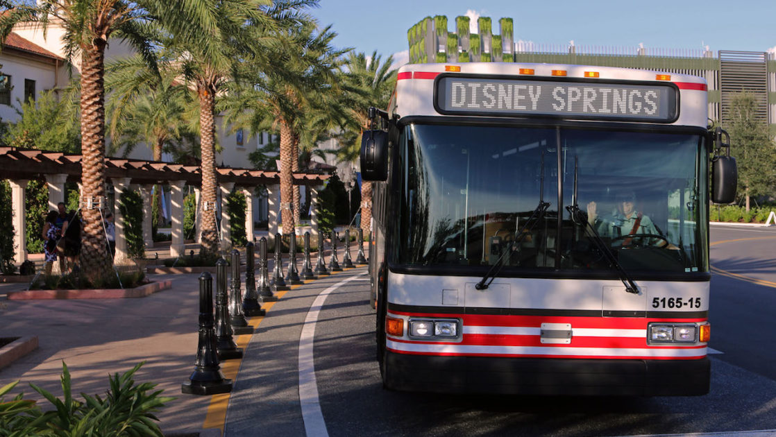 Disney Bus in Disney Springs