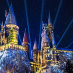 Christmas Lights at Hogwarts castle