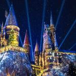 Christmas Lights at Hogwarts castle