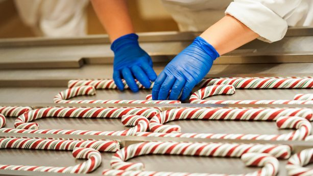 Hand pulled candy canes