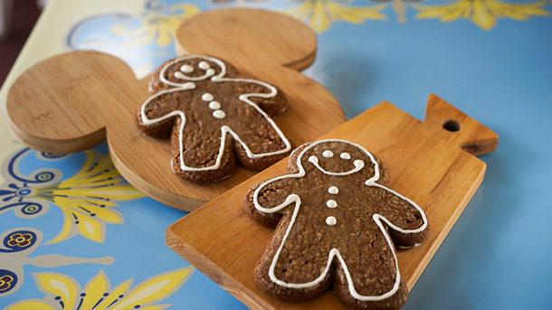 Gingerbread cookies on a tray