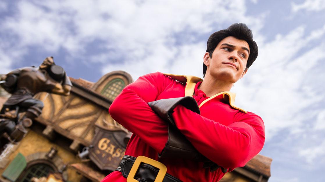 Gaston smiling and smirking