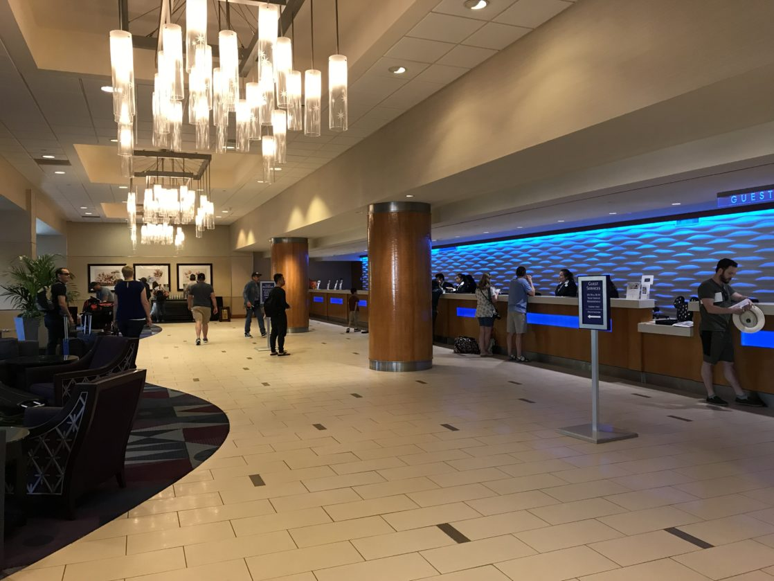 Lobby of the Disneyland Hotel