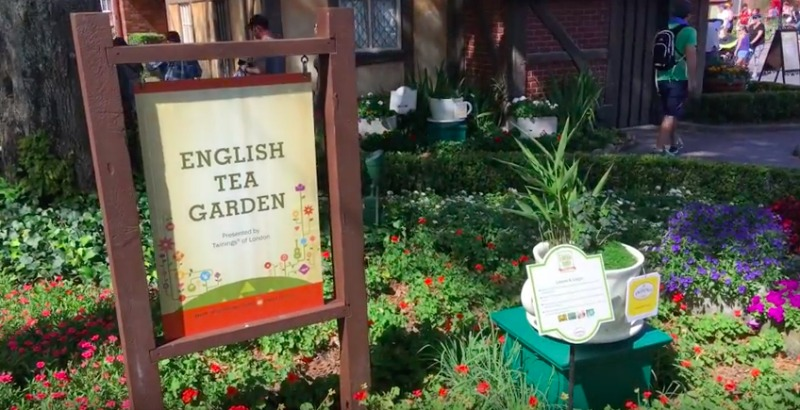 English Tea Garden sign for the tour