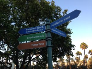 Sign pointing to Downtown Disney
