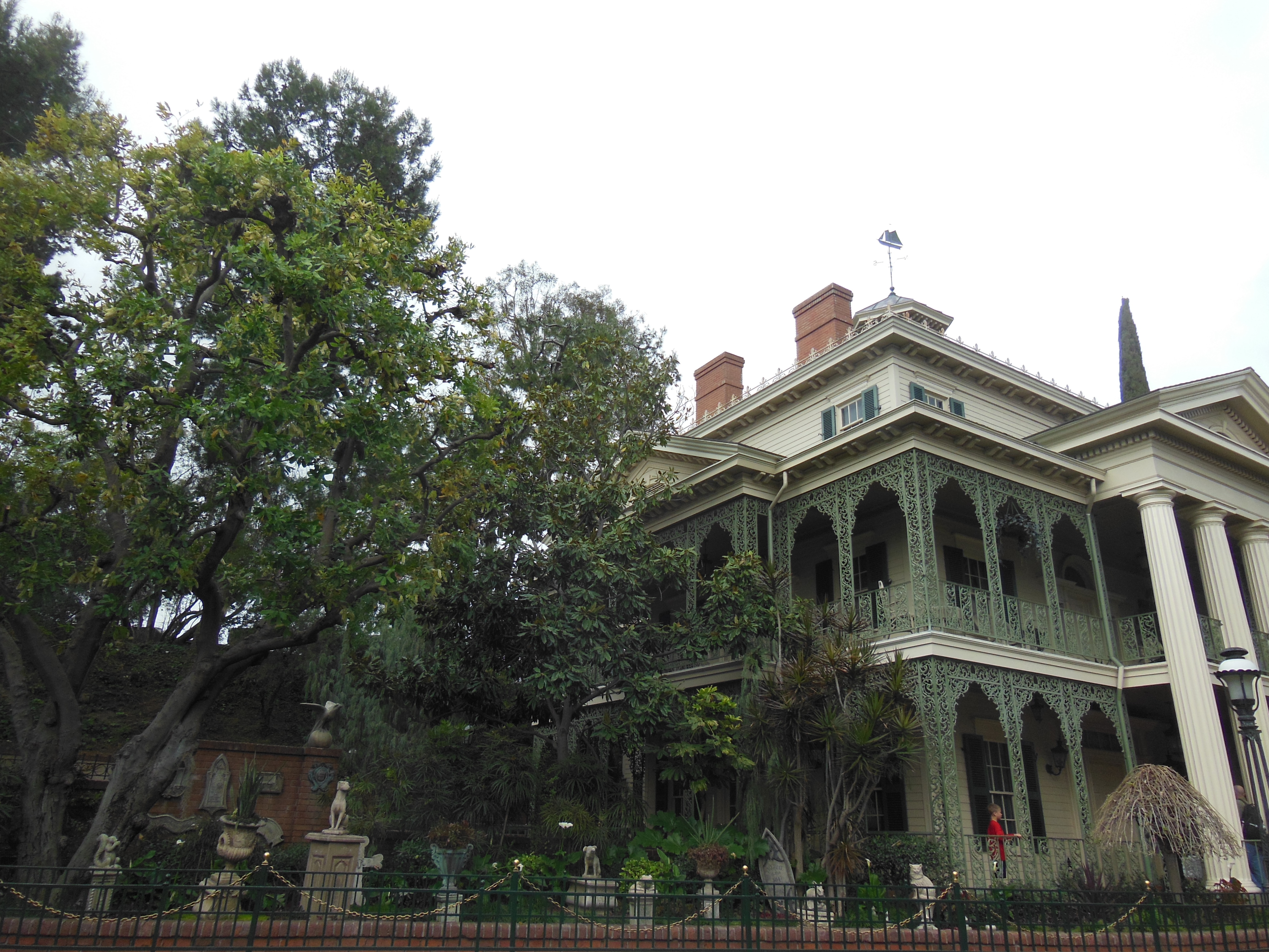 Outside of the Haunted Mansion