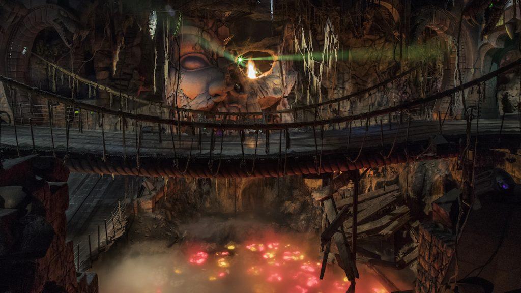 Indiana Jones attraction bridge