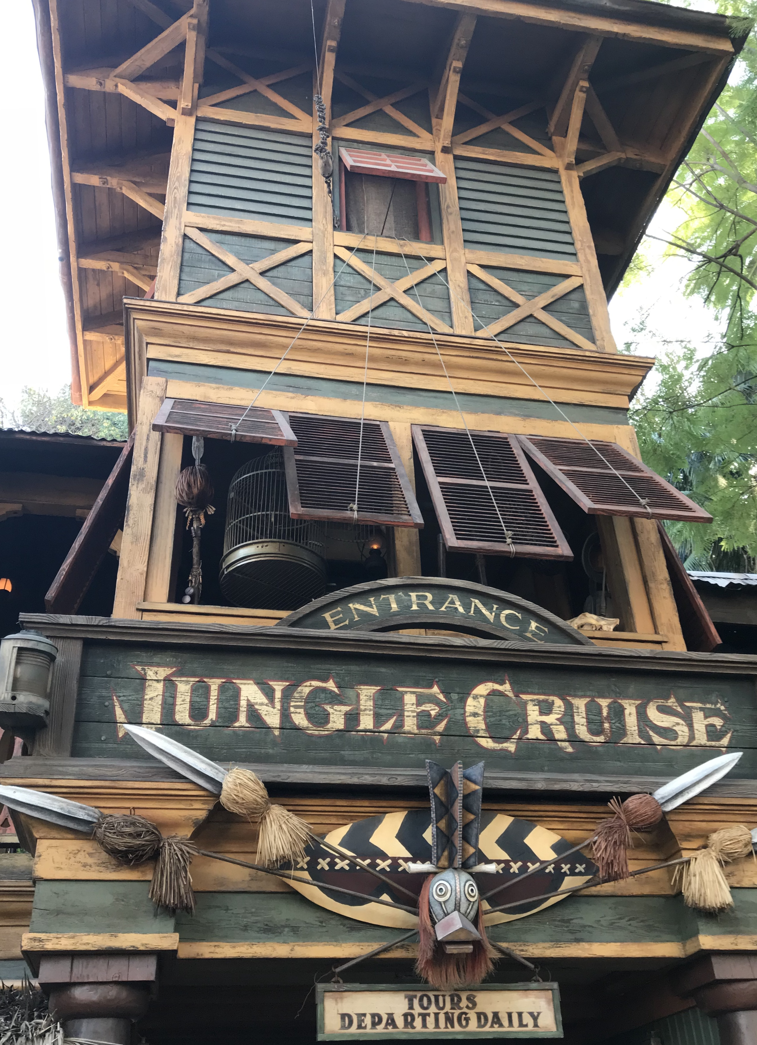 Outside of the Jungle Cruise attraction