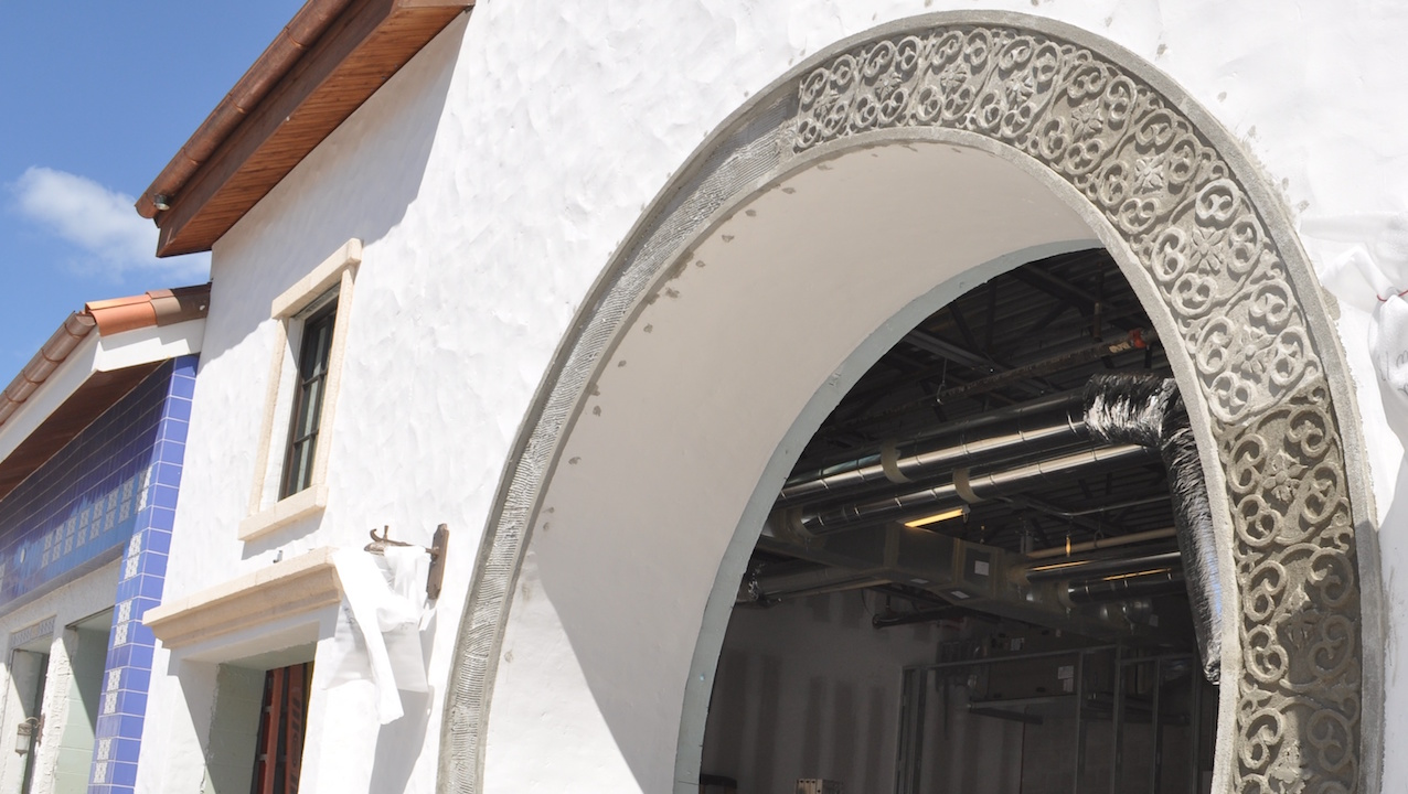 Carved archway