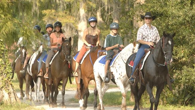 Horseback riding at walt disney world