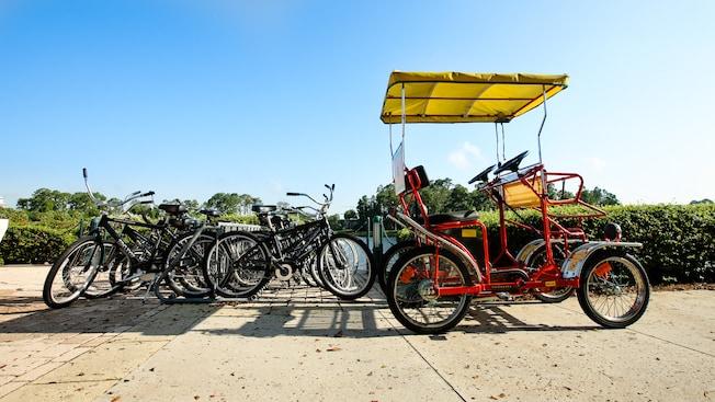 Surrey bikes at walt disney world