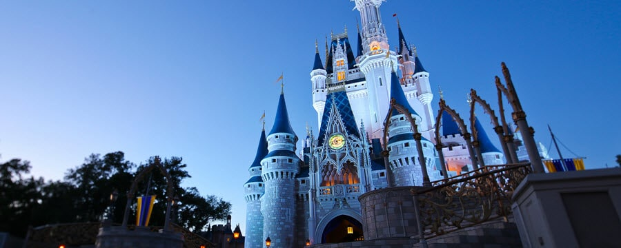 Cinderella Castle at night for the Disney After Hours Event