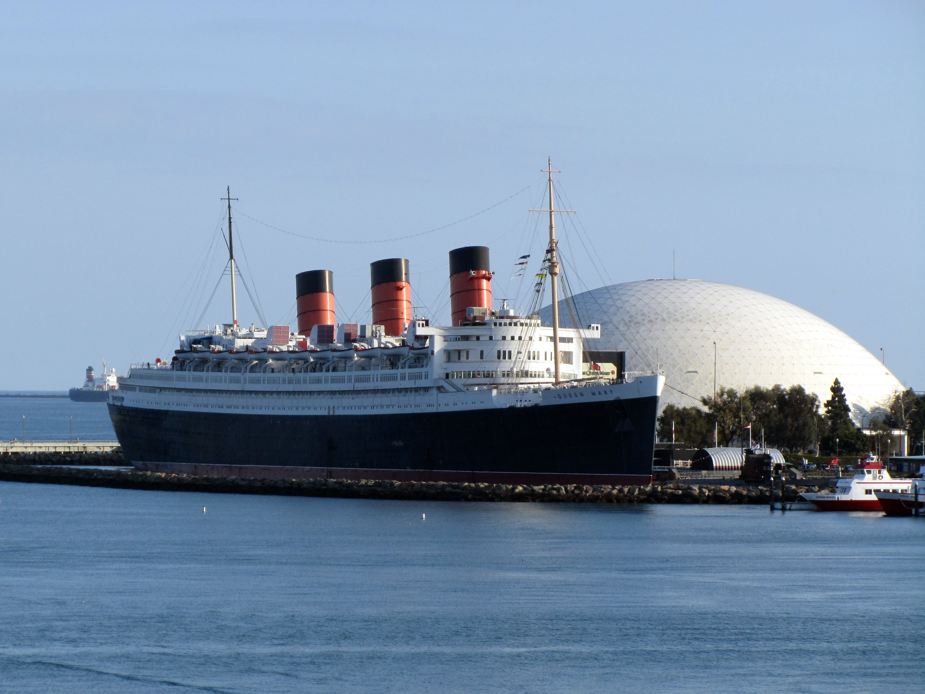 Long Beach Harbor with the Queen Mary. Photo courtesy of LAweekly.com.