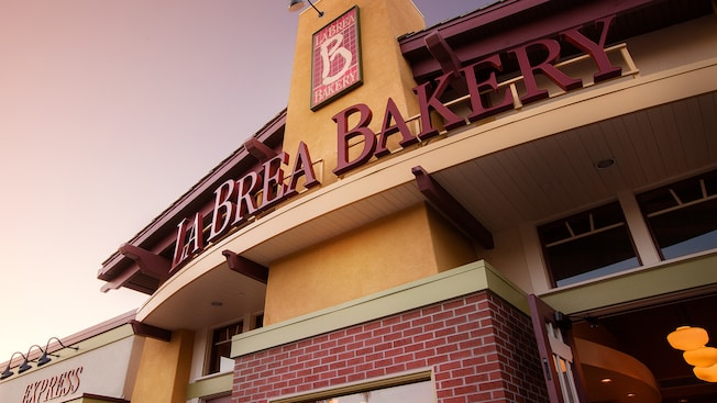 La Brea Bakery sign in Disneyland