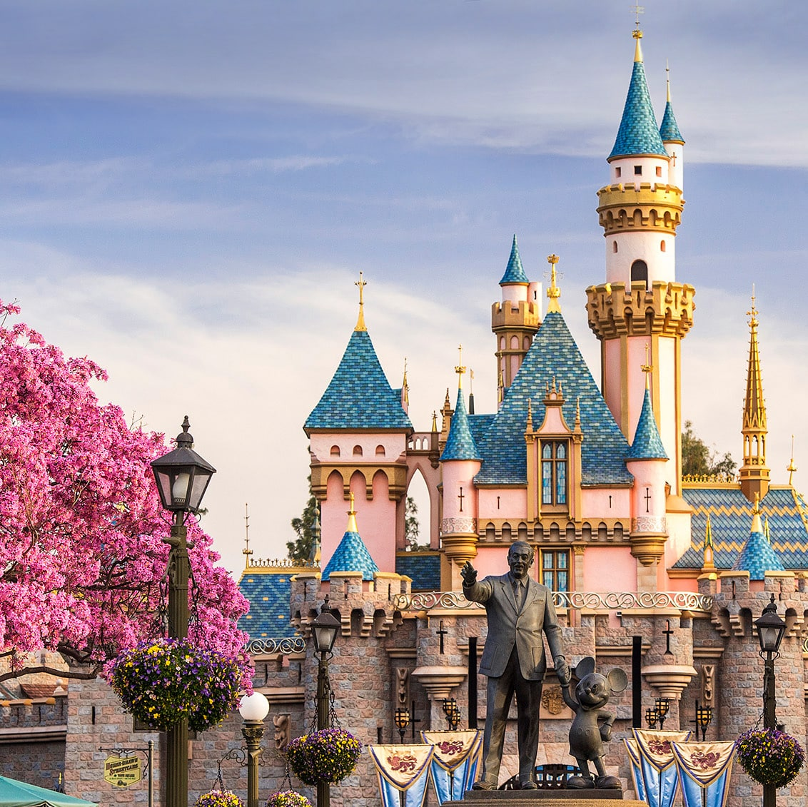 Disneyland's Sleeping Beauty's Castle in Spring
