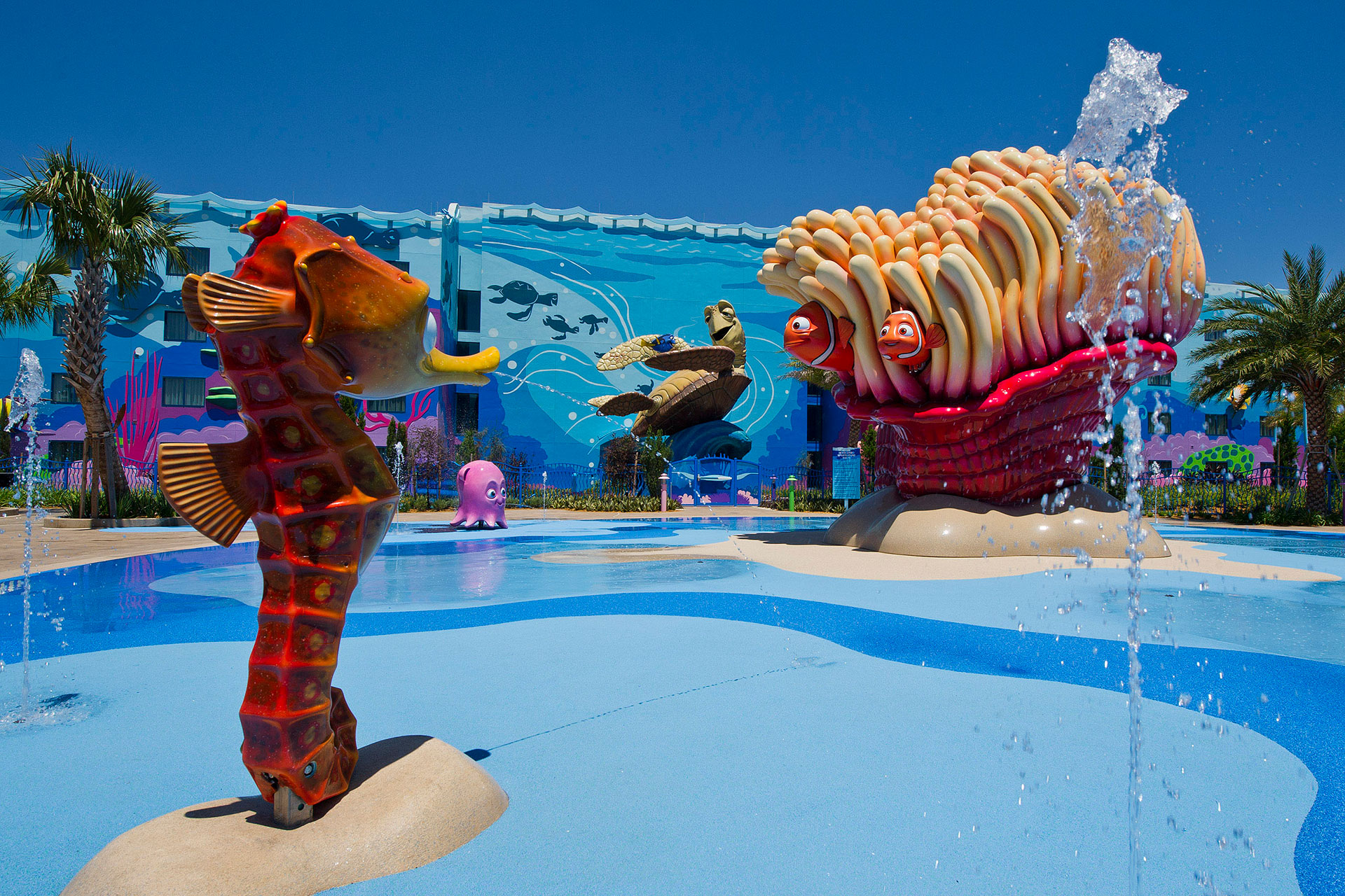 Big Blue Pool at Finding Nemo area of Art of Animation