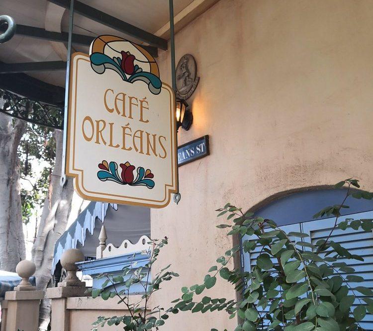 Cafe Orleans sign outside the restaurant